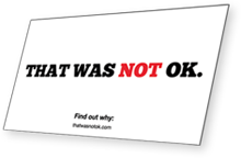 Not OK Card